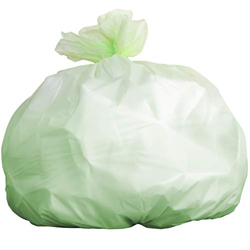 (Biodegradable Tall 13 Gallon Garbage Bags 60 Ct. ASTM D6400 and BPI-Certified Compostable Trash Can Liners. Hefty for Kitchen Food Scraps and Compost Bins. Eco-Friendly and Plant-Based for Green Homes)