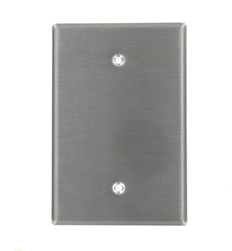 Leviton 84114-40 1-Gang No Device Blank Wallplate, Oversized, Device Mount, Stainless Steel - 30 Pack by Leviton (Image #1)