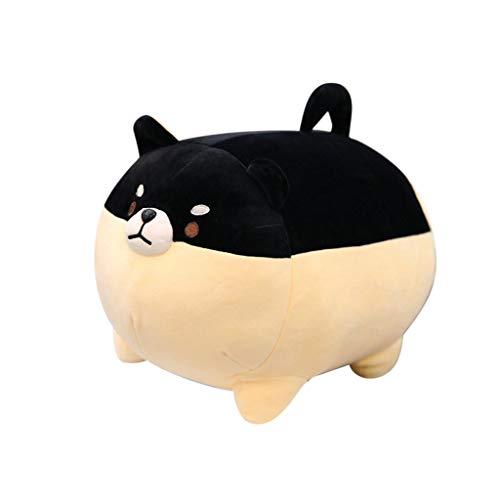 Gbell Cute Anime Shiba Inu Plush Toys- Kids Soft Shiba Plush Toy Emotional Companion Dolls - Kawaii Room Pillow Decor Anime Shiba Inu Stuffed Toys Gifts for Girls Boys Kids Adults,40 cm (Black) -