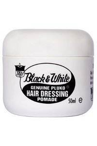 Black and White Genuine Pluko Hair Dressing Pomade (50ml)