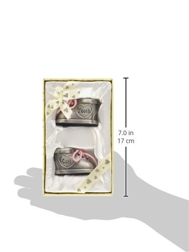 Stephan Baby Pewter First Tooth and Curl Keepsake Shoes