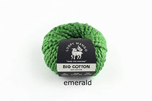 Loopy Mango DIY Knit Kit - Small/Medium Puff Sleeve Crop Top - Big Cotton (Emerald) by Loopy Mango (Image #5)