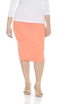 Esteez Women's Pencil Skirt – Plus Size - Modest Stretchy Basic - Knee Length - Dallas