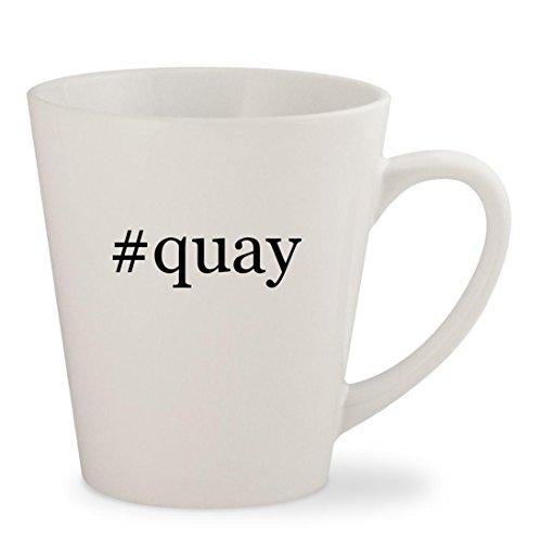 #quay - White Hashtag 12oz Ceramic Latte Mug - Sunglasses Zig Quay