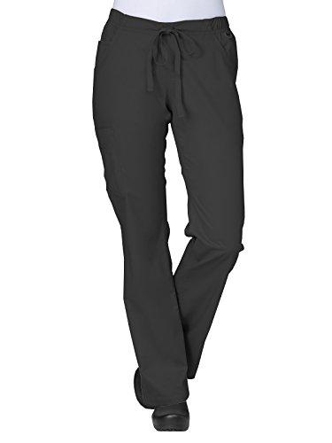 Maevn Women's Straight Leg Cargo Pants(Black, Large)