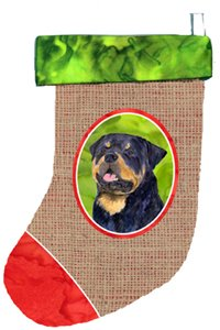 Caroline's Treasures Rottweiler Christmas Stocking, 11 x 18, Multicolor ()