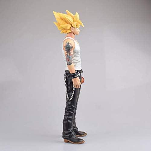 Anime Karakter Super Saiyan Kakarotto Geel Haar Versie Handgemaakte Model Statische Speelgoed Son GokuPVC Figuur (29 Cm)