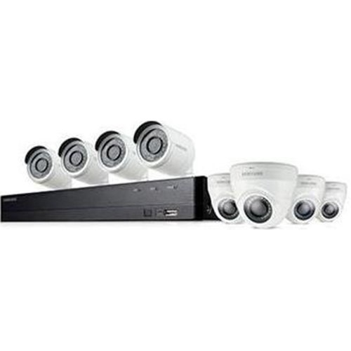 Samsung Wisenet  SDH-C74083HFN 8 Channel Full HD Video Security System with 2TB HDD, 4 Bullet Cameras and 4 Dome Cameras by Samsung