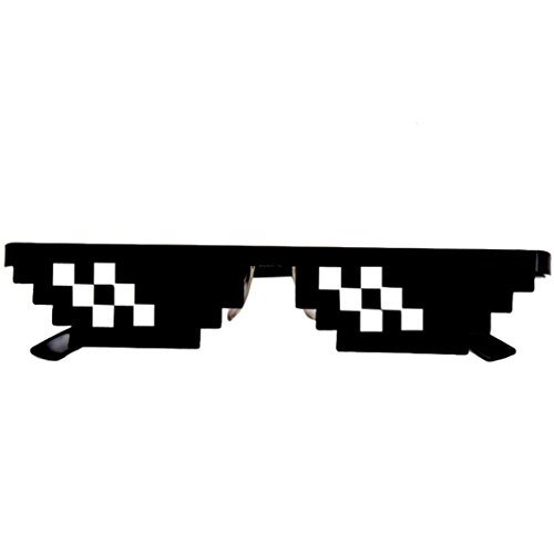 Boyiya Toy, Men Women Goggles Glasses Thug Life 8 Bit Pixel Deal With IT Sunglasses Unisex Sunglasses Toy - Bit Sunglasses 8