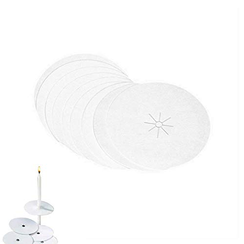 D'light Online Drip Protector - Paper Bobeche Candle Holder for Candlelight Vigil, Church Service, Church Mass, Memorial Service and Devotional Candles (Set of 150)