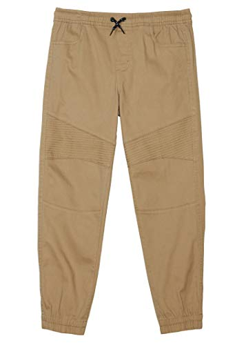 TONY HAWK Kids Boys Cotton Stretch Twill Woven Jogger Pants with Drawstring and Pockets School Clothes Antelope 10/12