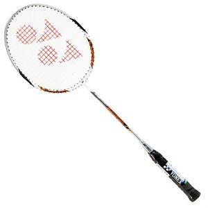 Yonex Muscle Badminton Racquet White Orange