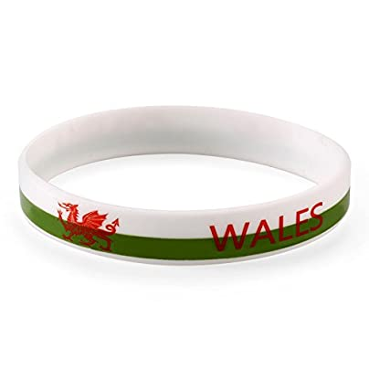 Komonee Wales White World Cup Olympics Silicone Wristband Pack Estimated Price £2.45 -