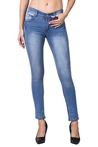 Genevo Women's Skinny Jeans  Light Blue