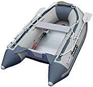 7.5ft Inflatable Boat Raft Dinghy Pontoon Boat Kayak with Aluminum Floor