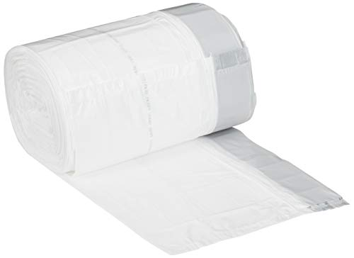 AmazonCommerical Custom Fit White Drawstring Trash Bags - Compatible with simplehuman Type R - 0.98 MIL - 150 Count
