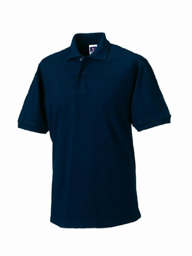 Russell Men's Hardwearing Pique Short Sleeve Polo Shirt French Navy L