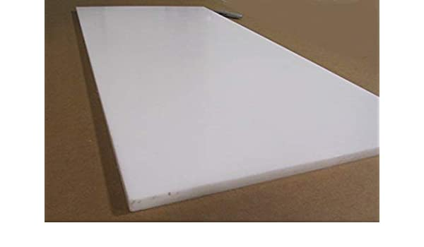 """Delrin Acetal Sheet 7//8 .875/"""" Thick x 12/"""" Width x 12/"""" Length White POM"""