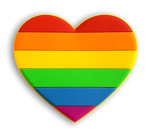 Pinsanity Rainbow Heart Refrigerator - Rainbow Refrigerator