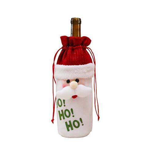 Brave669 [Christmas Decoration]-3Pcs Cloth Reindeer Snowman Santa Claus Wine Bottle Cover Christmas Party Decor