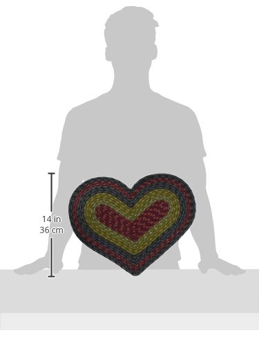 Earth Rugs 60-238 Placemat 12x17 Burgundy-Olive-Charcoal