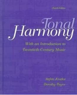 Student workbook and cd for use with tonal harmony stefan kostka tonal harmony with an introduction to 20th century music 4th edition by kostka stefan m fandeluxe Images
