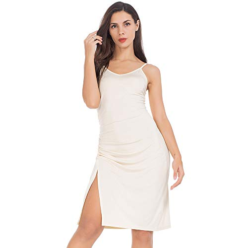 MANCYFIT Full Slips for Women Under Dress Adjustable Spaghetti Strap Cami V Neck Nightgowns