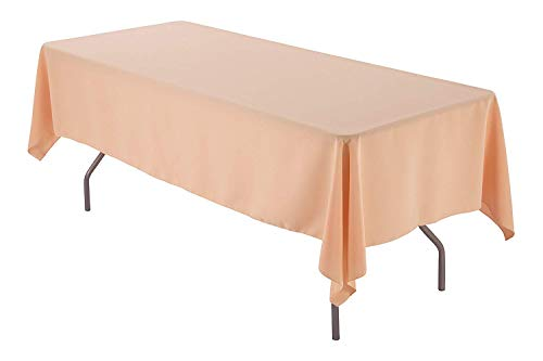 AK-Trading 60 x 102-Inch Rectangular Polyester Tablecloth - Peach ()