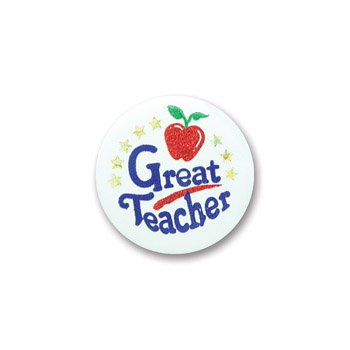 [Great Teacher Satin Button 2