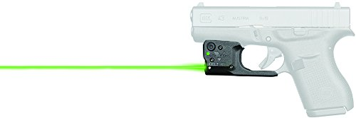VIRIDIAN WEAPON TECHNOLOGIES 920-0036 Reactor 5 Gen II Green Laser, Fits: Glock 43 with ECR Instant On IWB Holster, Black (Best Laser For Glock 43)