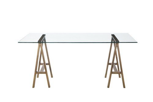 Pangea Home Z Brady Desk, Brushed Brass - Manufacturer: Pangea Home Material Type: Metal and Tempered Glass Color name: Brushed Brass - writing-desks, living-room-furniture, living-room - 31G0A3zRWwL -