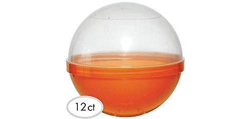 Party City Orange Ball Favor Container, Party Supplies,