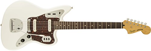 Squier by Fender Vintage Modified Jaguar Electric Guitar, Rosewood Fingerboard, Olympic White
