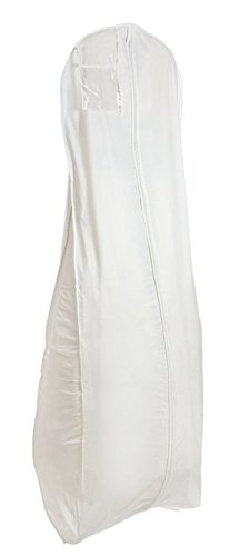 White Breathable Wedding Bridal Dress Garment Bag (600GBB)
