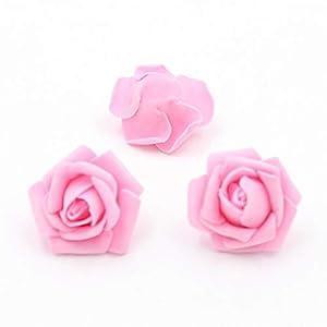 Vivavivo1234 Wreath Material Artificial Flowers Silk Flower Rose Foamflower Heads Bouquet Wedding Flowers 7 113