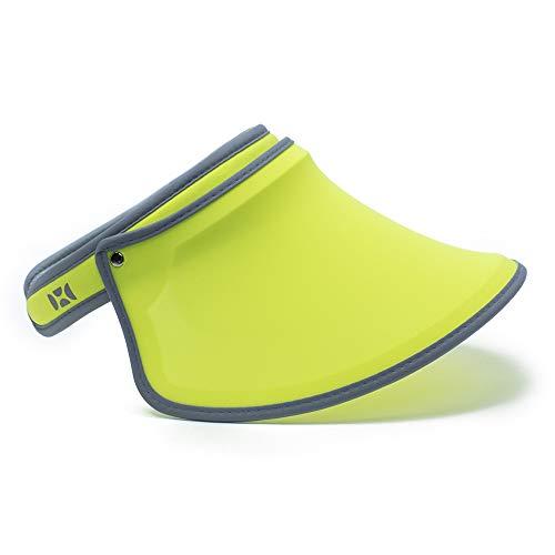 31f932f81 HOII Anti-UV Classic Sun Visor Hat UPF 50+ Adjustable One-Size (Yellow)