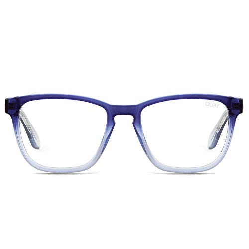 Quay Australia Women's Hardwire Blue Light Glasses (Navy Fade/Clear Blue Light Lens, One Size) ()
