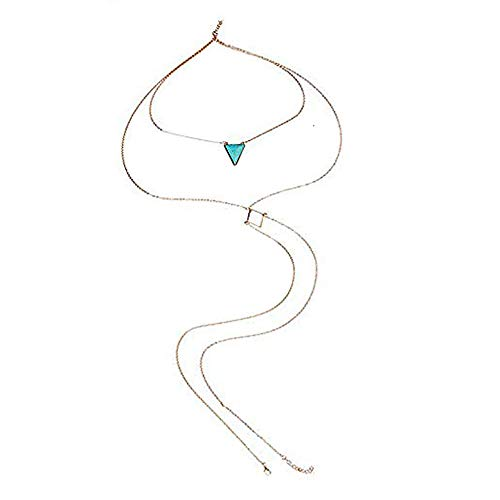 3 Mm Crossover - SEXY SPARKLES Bikini Beach Crossover Harness Necklace Waist Belly Body Chain Jewelry