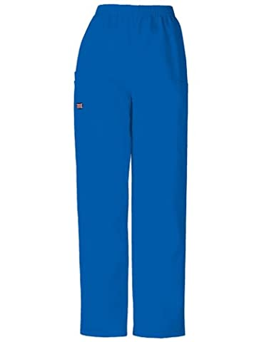 Cherokee Women's Workwear Scrubs Pull-On Cargo Pant (SIZE 2X-5X), Royal, 2X-Large-Petite