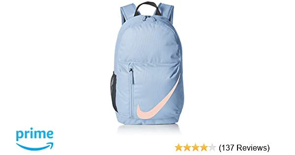 69a28a67965 Amazon.com : Nike Kids' Youth Elemental Backpack, Aluminum/Black/Crimson  Tint, One Size : Clothing