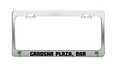 GRADSKA PLAZA, BAR Montenegro Beach Shore Coast Fun Auto License Plate - Plaza Shore