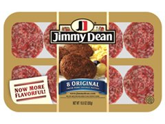 JIMMY DEAN PORK BREAKFAST SAUSAGE PATTIES ORIGINAL 10 OZ PACK OF 3