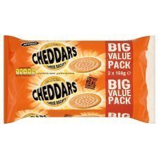 McVitie's Baked Cheddars Cheese Biscuits Twinpack 2 X 150G