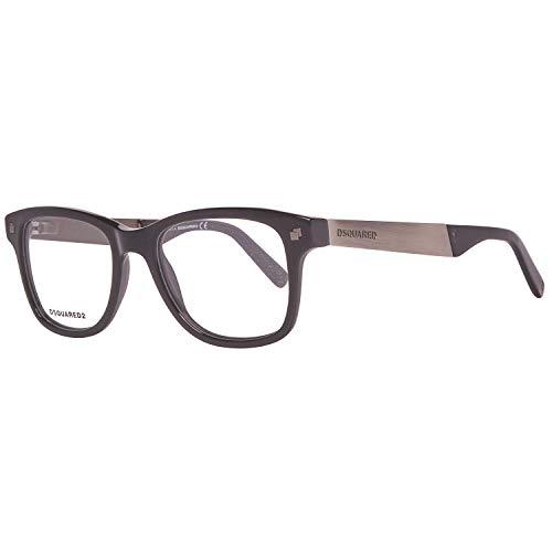 Dsquared2 Unisex DQ5130 Optical Acetate Frames BLACK 49 (Schwarze Designer-brille)