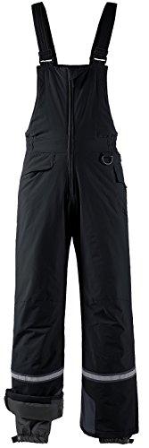 Wantdo Men's Waterproof Padding Insulated Snow Pants Ski Bib Pant X-Large Black