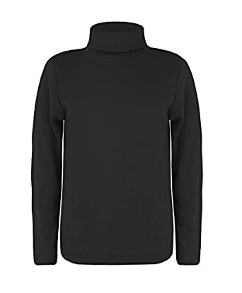 Amazon.com: LOTMART Kids Turtleneck Long Sleeve Plain Basic Top ...