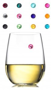 Swarovski Crystal Magnetic Wine Charms - Set of 12 - Storage Box Included - Works with Any Type of Glass - Great Party or Gift Idea - Best Value - By Avito