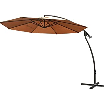 Costco Cantilever Patio Umbrella Reviews This Item Strong Camel Garden  Outdoor Sunshade Hanging Market Tan Base