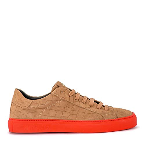 Hide&Jack Men's Sneaker Essence Croco in Suede Caramello 42(EU)-8½(US) Beige ()