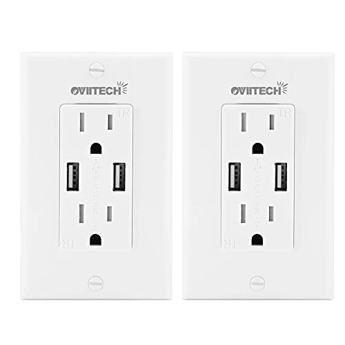 OviiTech 2.4AMP Dual Smart High Speed USB Wall Charger Outle